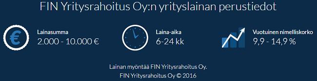 FIN Yrtysrahoitus - Lainaa 2000 - 10.000 euroa selkeillä ehdoilla.